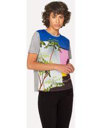 Paul Smith - Grey 'LA Wall' Print T-Shirt - Lyst