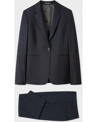 Paul Smith A Suit To Travel In - Navy One-button Wool Suit - Blue