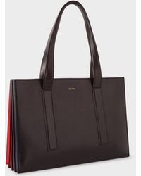 Paul Smith - Women's Black And Red 'concertina' Tote Bag - Lyst