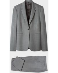 Paul Smith A Suit To Travel In - Gray One-button Wool Suit