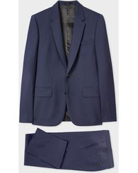 Paul Smith The Soho - Tailored-fit Dark Blue Wool 'a Suit To Travel In'
