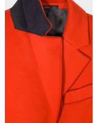 Paul Smith Orange Four-button Wool-cashmere Epsom Coat