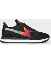 Paul Smith Black 'rocket' Recycled Knit Trainers