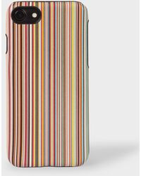 Paul Smith Signature Stripe Leather Iphone 7/8 Case - Multicolour