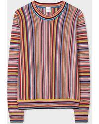 "Paul Smith Pull ""Signature Stripe"" en Laine - Multicolore"