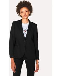 Paul Smith - Black Wool-Hopsack Blazer With 'Acapulco' Lining - Lyst