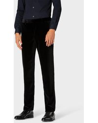 Paul Smith Slim-fit Black Velvet Trousers