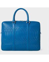 Paul Smith No.9 - Blue Leather Slim Business Folio