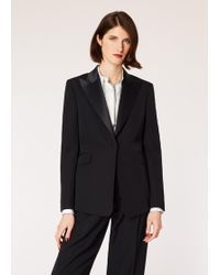 Paul Smith - Slim-Fit Black One-Button Wool Tuxedo Blazer - Lyst