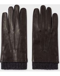 Paul Smith | Men's Black Deerskin Silk-cashmere Lined Gloves | Lyst