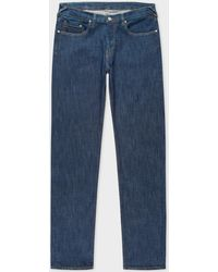 Paul Smith - Tapered-Fit Indigo Stretch-Denim Jeans - Lyst