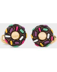 Paul Smith Boutons De Manchette 'Donut' Dorés - Métallisé