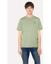 Paul Smith - Sage Green Organic-Cotton Zebra Logo T-Shirt - Lyst