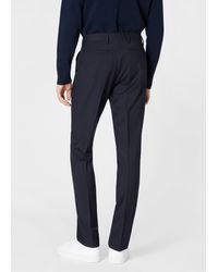 Paul Smith Slim-fit Navy Wool 'a Suit To Travel In' Trousers - Blue
