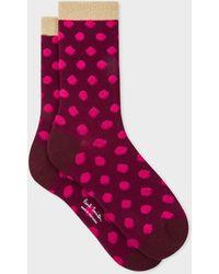Paul Smith - Pink 'Polka Dot' Socks - Lyst