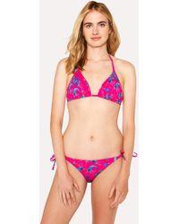 Paul Smith - Fuchsia 'Prawn' Print Triangle Bikini Top - Lyst