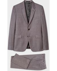 Paul Smith - The Kensington - Slim-Fit Grey And Damson Glen Check Suit - Lyst
