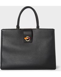 Paul Smith - Black T-Bar Leather Tote Bag - Lyst