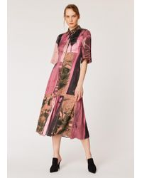 Paul Smith - Pink 'paul's Photo' Print Midi Shirt Dress - Lyst