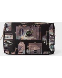 Paul Smith Camouflage 'Paul's Camera' Print Canvas Wash Bag - Multicolor