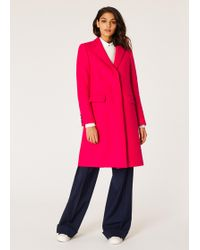 Paul Smith - Fuchsia Wool And Cashmere-blend Epsom Coat - Lyst