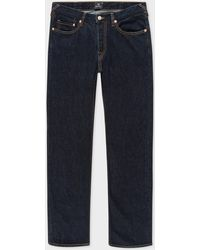 Paul Smith - Tapered-Fit 13oz 'Pink Selvedge' Indigo Denim Jeans - Lyst