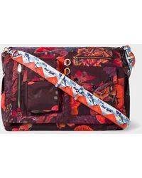 Paul Smith - 'Ocean' Print Micro-Ripstop Messenger Bag - Lyst