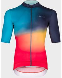 Paul Smith 'artist Stripe Fade' Race Fit Cycling Jersey - Black