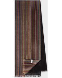 Paul Smith Gradient 'signature Stripe' Lambswool Scarf - Multicolor