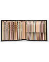 Paul Smith Classic Stripe Billfold Wallet - Black