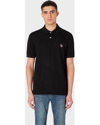 Paul Smith Zebra Polo Shirt - Black