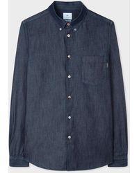 Paul Smith Tailored-fit Indigo Denim Shirt - Blue