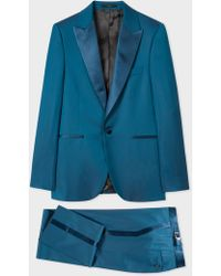 Paul Smith - The Soho - Tailored-Fit Teal Wool Evening Suit - Lyst