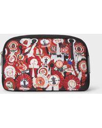 Paul Smith & Manchester United - 'vintage Rosette' Print Canvas Wash Bag - Multicolour