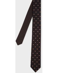 Paul Smith Black Tie With Fluorescent Spots