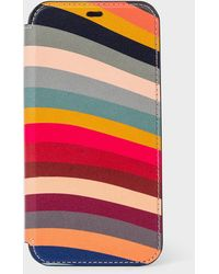 Paul Smith 'swirl' Leather Iphone 11 Pro Wallet Case - Multicolor