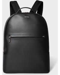 Paul Smith Leather Backpack - Black