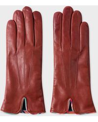 Paul Smith Women Glove Swirl Piping - Red