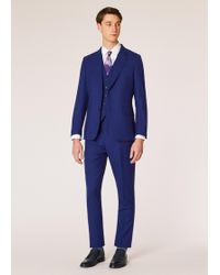 Paul Smith - The Soho - Tailored-fit Indigo Three-piece 'a Suit To Travel In' - Lyst