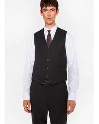 Paul Smith - Gilet De Costume Homme 'A Suit To Travel In' Gris Charbon En Laine Coupe Ajustée - Lyst