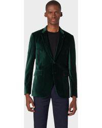 Paul Smith The Kensington - Slim-fit Dark Green Velvet Blazer