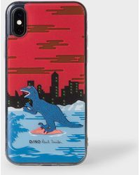 Paul Smith Red 'dino' Motif Iphone X Case