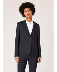 Paul Smith A Suit To Travel In - Blazer Bleu Marine À Un Bouton En Laine
