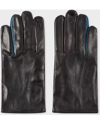 Paul Smith - Black Lamb Leather Concertina Gloves - Lyst