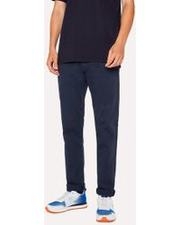Paul Smith - Tapered-Fit Navy Garment-Dye Jeans - Lyst