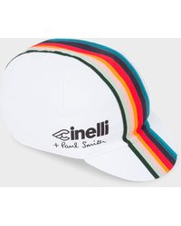 Paul Smith + Cinelli White 'artist Stripe' Band Cycling Cap