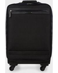 Paul Smith - Black 'jacquard Rabbit' Trolley Suitcase - Lyst