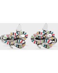 Paul Smith Artist Stripe 'snake' Cufflinks - Multicolour