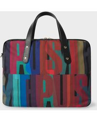 Paul Smith - '' Print Canvas Business Folio - Lyst
