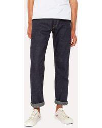 Paul Smith - Slim-Standard 12.5oz 'Rigid Western Twill' Light-Wash Denim Jeans - Lyst